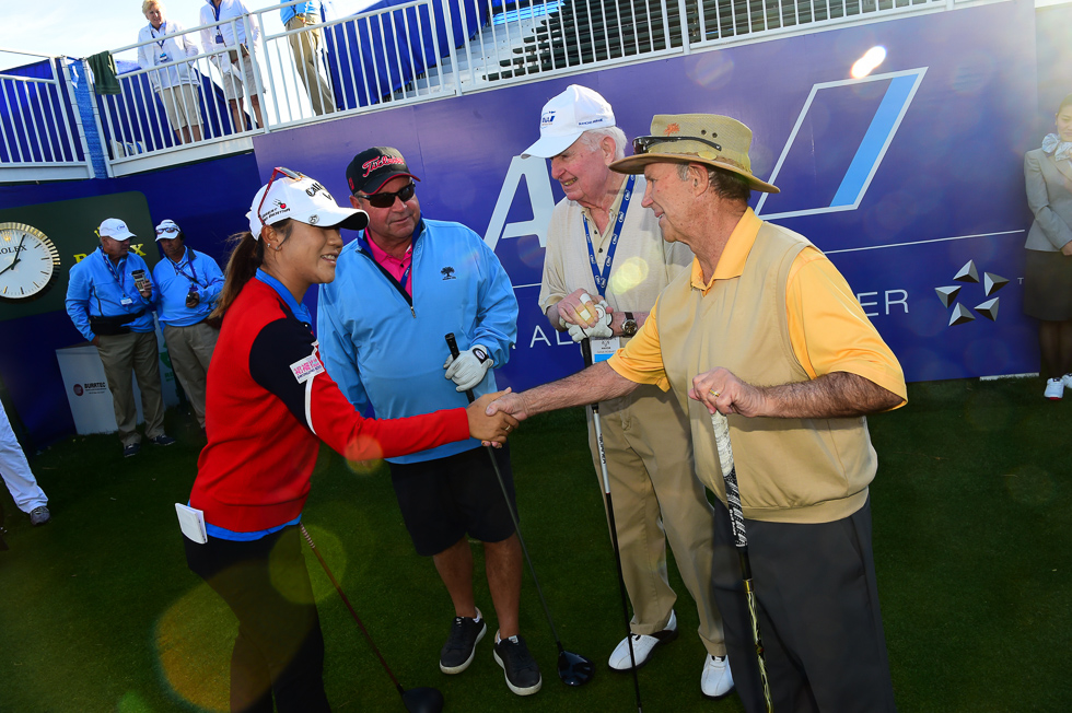 """Uh, yeah, you're Lydia Ko. No need to tell me your name. I've heard about you. It's very nice to meet you."""