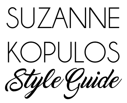 Suzanne Kopulos SLK Style Guide