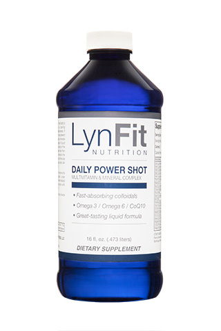 LynFit Daily Power Shot Advanced Multivitamin - LynFit Daily Power Shot is loaded with the highest quality vitamins, minerals, and antioxidants to maintain optimum health and generate elevated energy levels to maximize exercise and weight loss efforts. It provides over 90 essential minerals in a great tasting liquid formula.