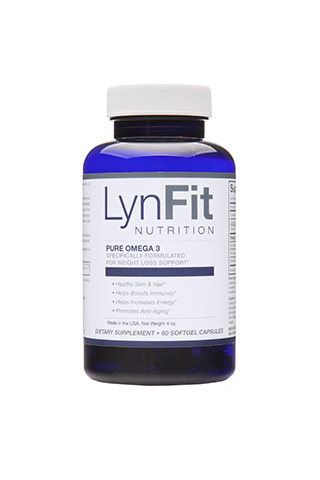 LynFit Pure Omega 3 with DHA and EPA - LynFit Pure Omega 3 is a medical grade omega-3 fatty acid supplement that is the purest and most potent rapid release soft gel first fish oil supplement on the market, with or without a prescription. Pure Omega 3 is molecularly distilled for better absorption, optimum purity, and geared specifically for weight loss and cleansing. Inspired by nature, perfected by LynFit!
