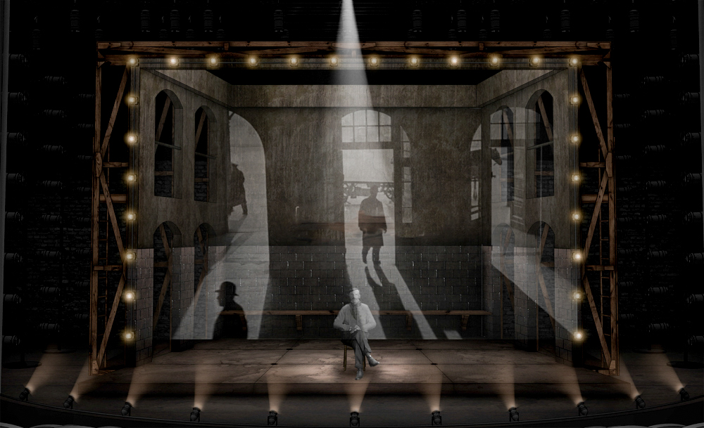 Indecent by Paula Vogel at Victory Garden's Theater directed by Gary Griffin. Projection Design by Stephan Mazurek.