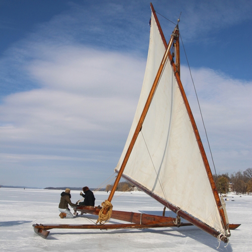 """A Foot of Ice on the Hudson? It's a good time to go Ice Yachting"" WNYC"