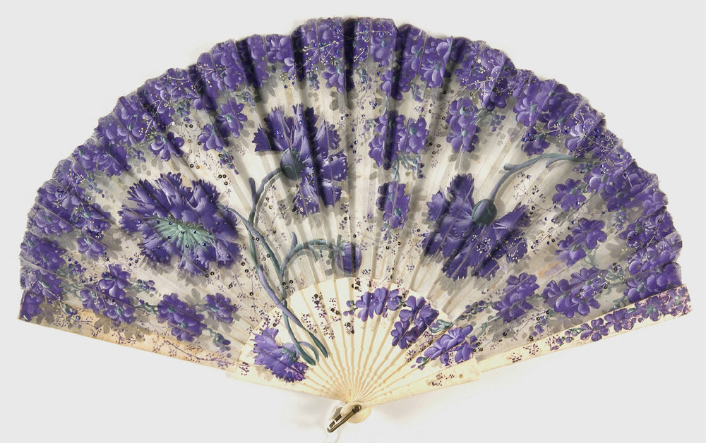 19th century silk fan from the  Philadelphia Museum of Art