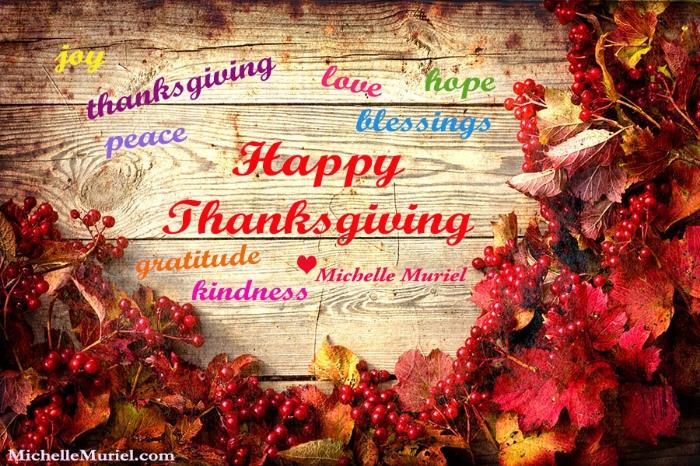 Happy Thanksgiving Michelle Muriel www.michellemuriel.com