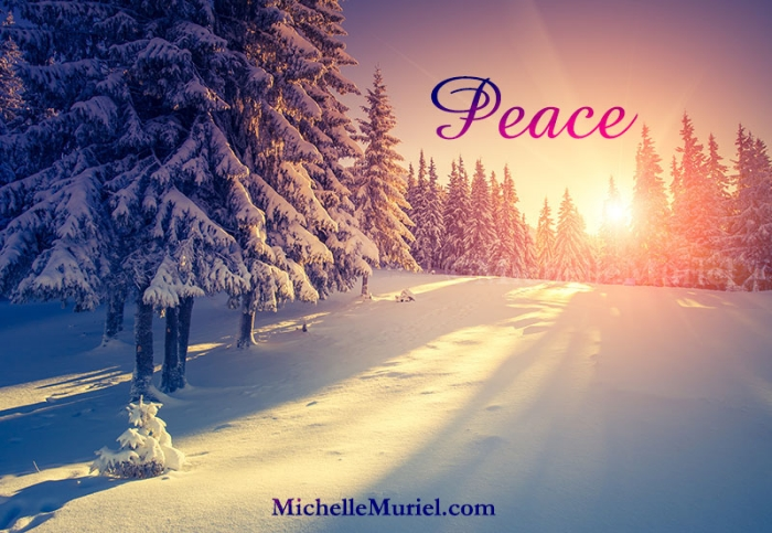 Peace winter scene author Michelle Muriel's blog Be Encouraged-Peace www.michellemuriel.com