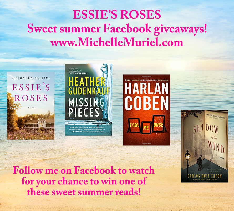 Summer book giveaways on Facebook Author Michelle Muriel visit www.michellemuriel.com to learn more