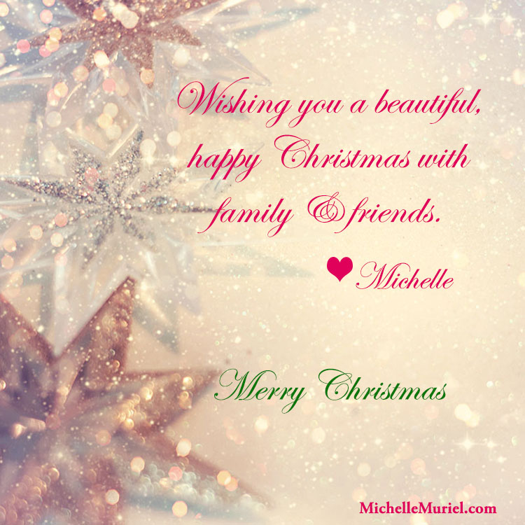 Merry Christmas from author Michelle Muriel www.MichelleMuriel.com