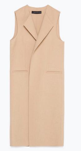 Zara, Tan Vest, $169
