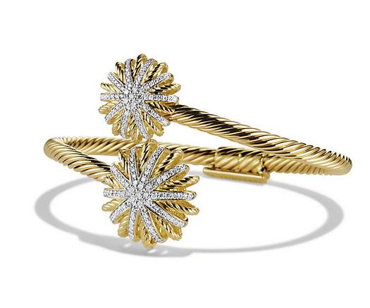 Starburst Open Bracelet with Diamonds in Gold, $8,500
