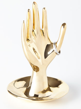 Jonathan Adler, Brass Hand Ring Holder,  $128