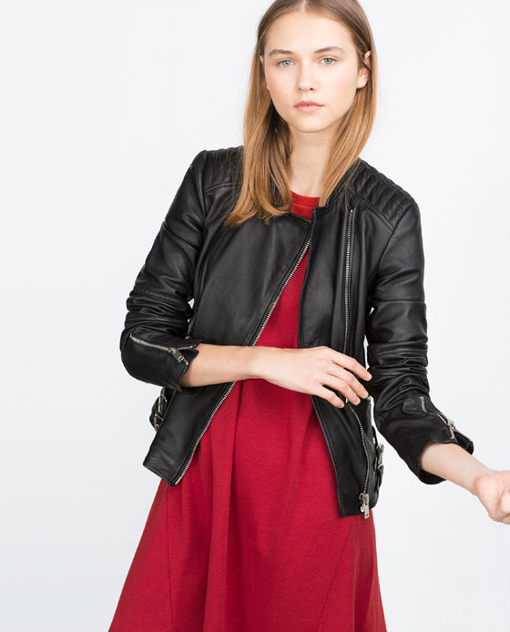 Short leather jacket, $199