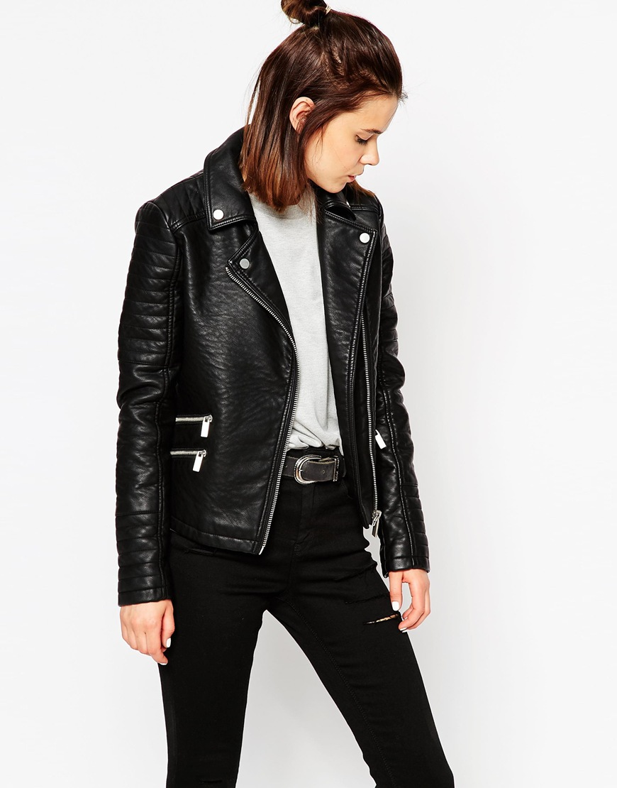 ASOS textured biker jacket, $98.53