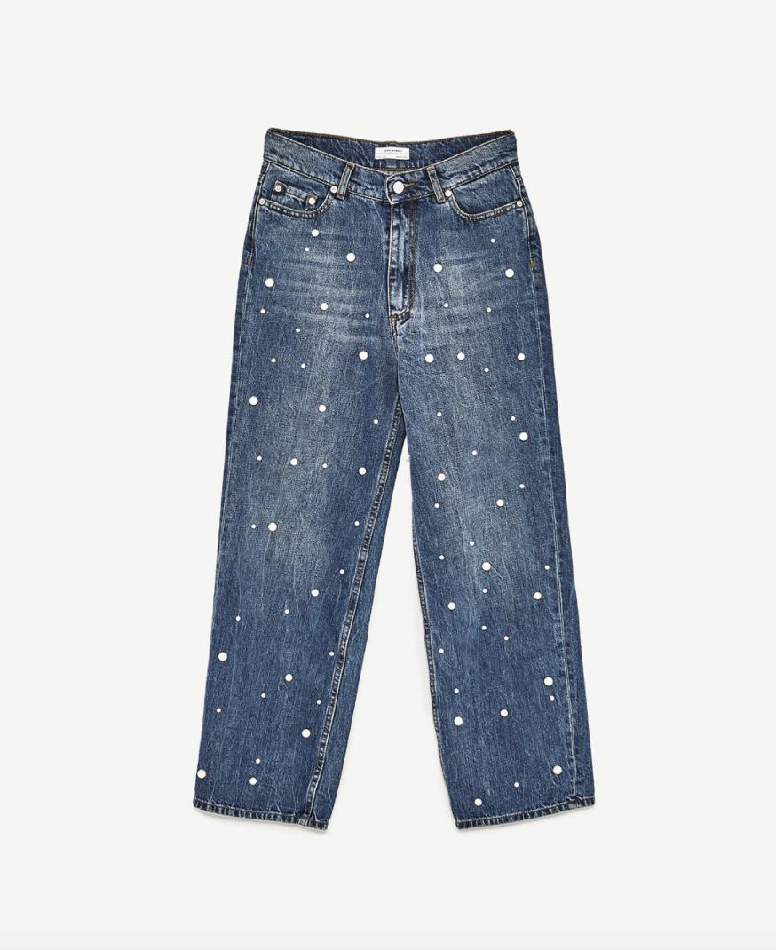 Zara Pearl Jeans, $69.90