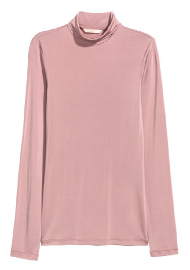 H&M Pink Turtleneck, $29.90