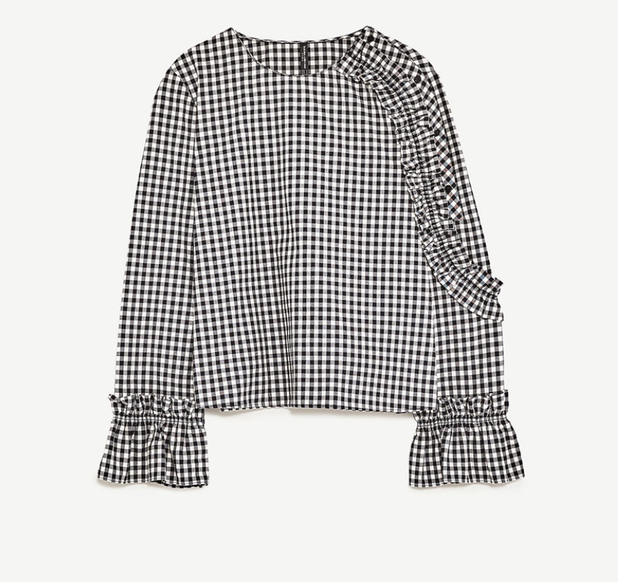Zara Checked Top, $35.90