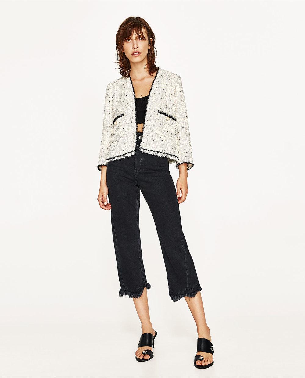 Sequinned Tweed Jacket, $129