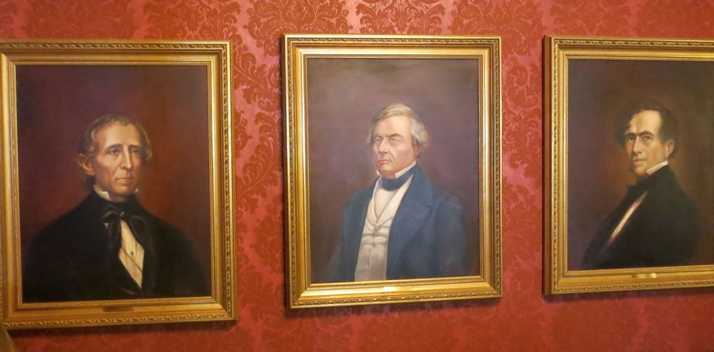 Here's an art-and-politics quiz for you: Which three U.S. presidents are these? The portraits hang at The Homestead in Hot Springs, a retreat that 22 sitting presidents have visited.