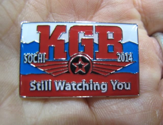 I now have a new favorite Sochi Olympic pin. Needless to say, it is not an official pin.