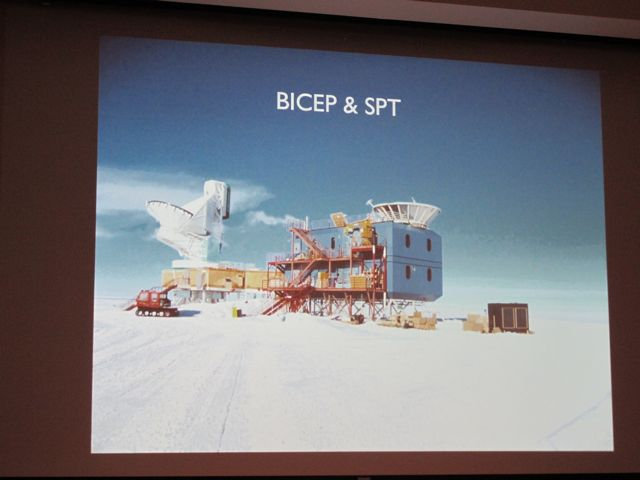 This is the BICEP array in Antarctica.