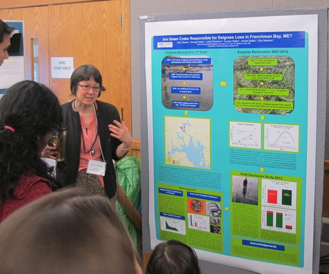 Jane Disney was one of many researchers who discussed their projects with the help of large posters between lectures.