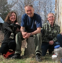 Pamelia and I with Bernd at his cabin in western Maine last year.