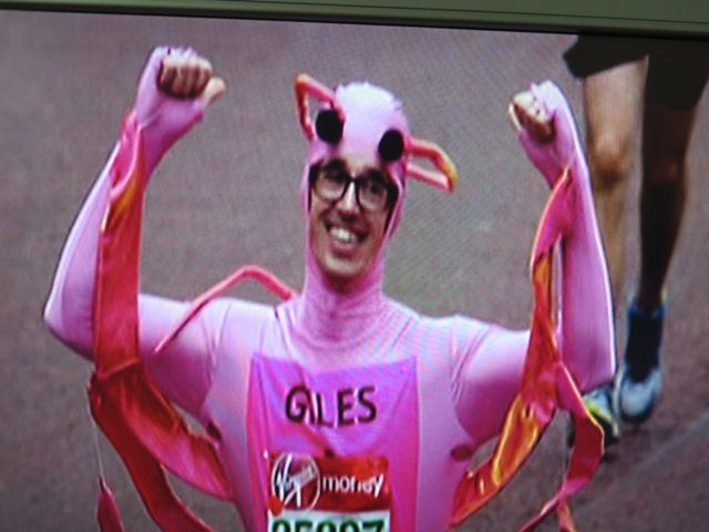 The field included runners dressed as everything from a pink cow…