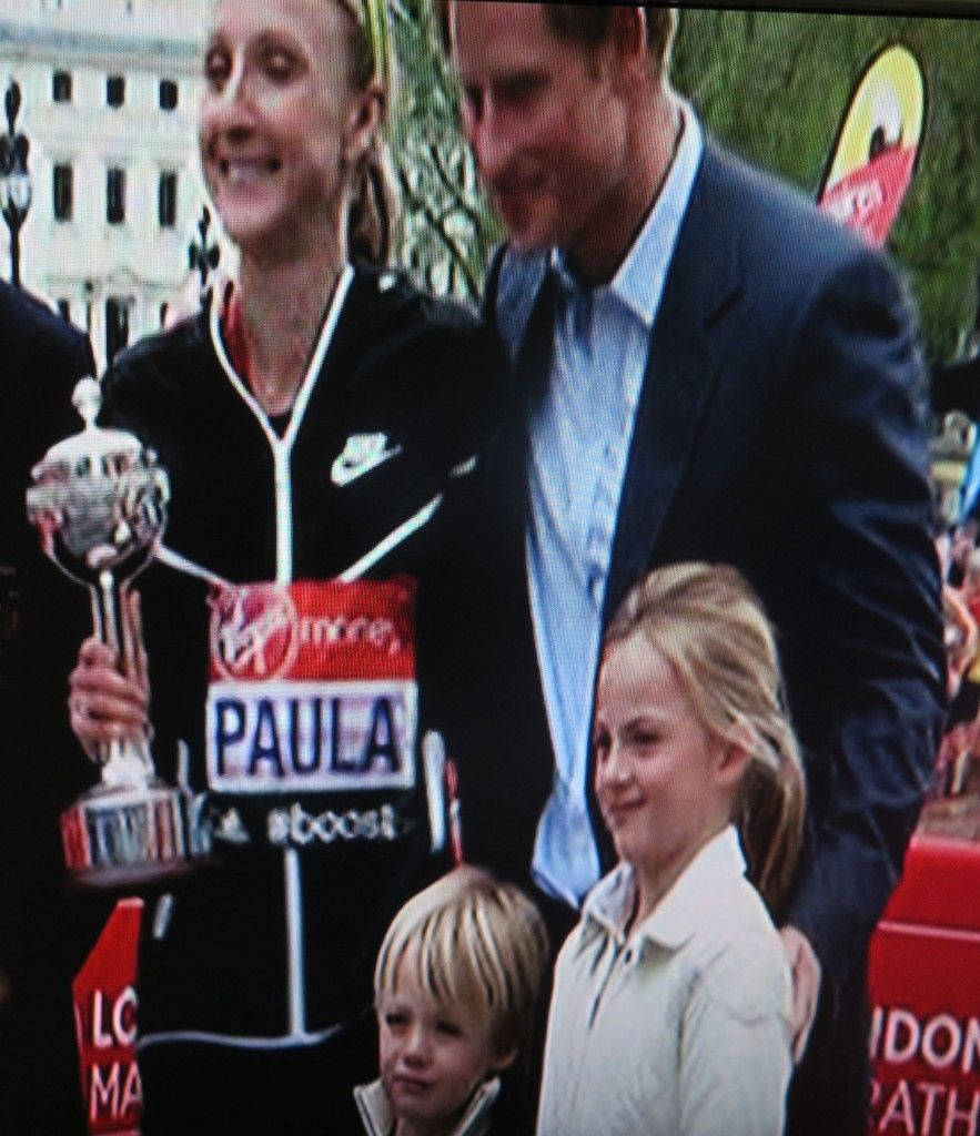 Paula Radcliffe, her lifetime achievement award, her kids and her Prince.