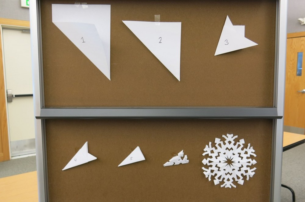 Follow these steps, snip here and there, and you too could be a snowflake maker.