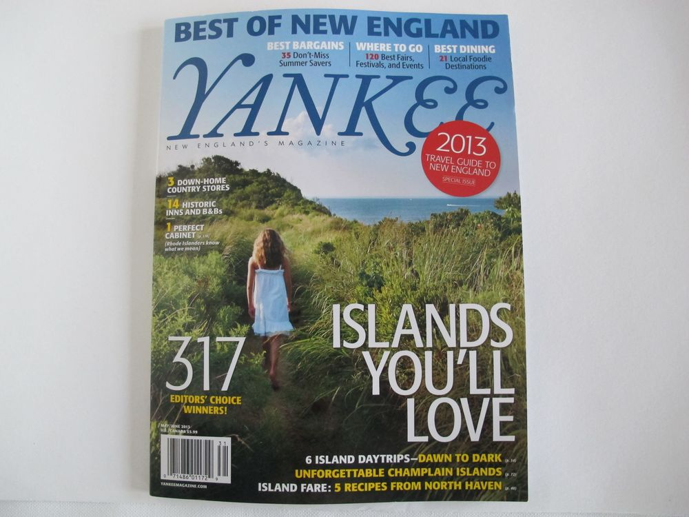 The Naturalist's Notebook was named Best of New England in the latest issue of Yankee Magazine.