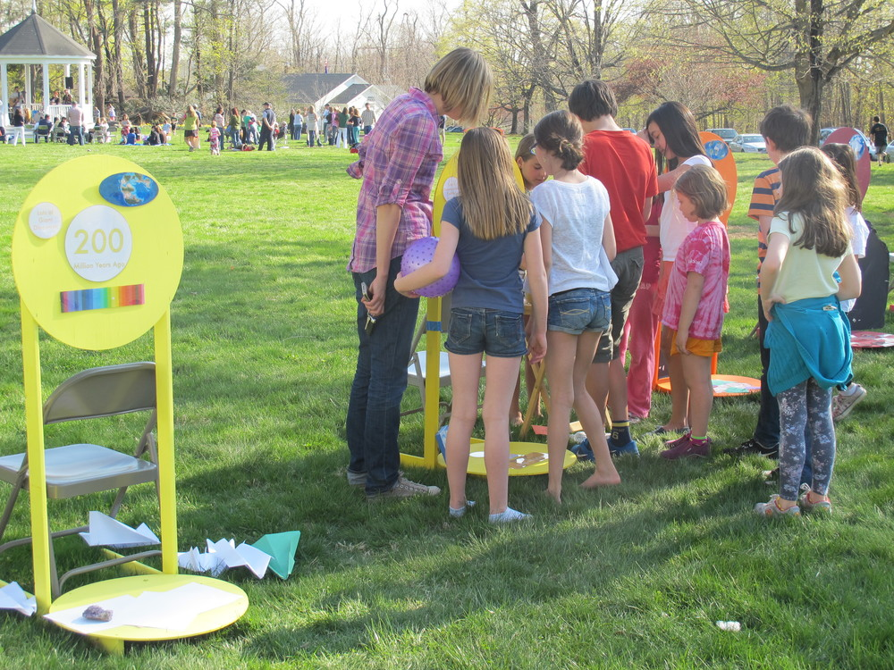 The Naturalist's Notebook's timeline kept kids busy at Redding's Earth Day.