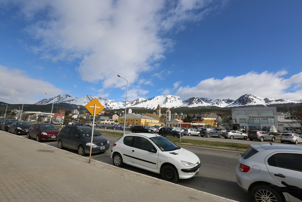 The Martial Mountains (at the southern tip of the Andes) and the Martial Glacier frame the fast-growing city of Ushuaia.