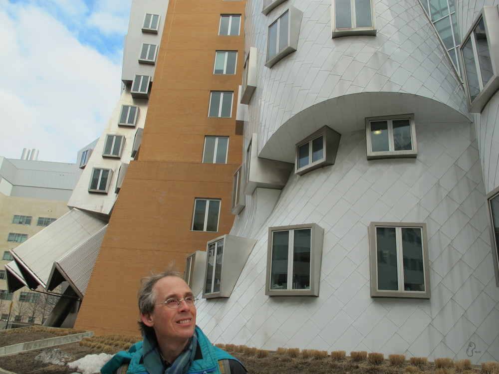 Pamelia took my photo in front of the Frank Gehry-designed Stata Building at MIT.