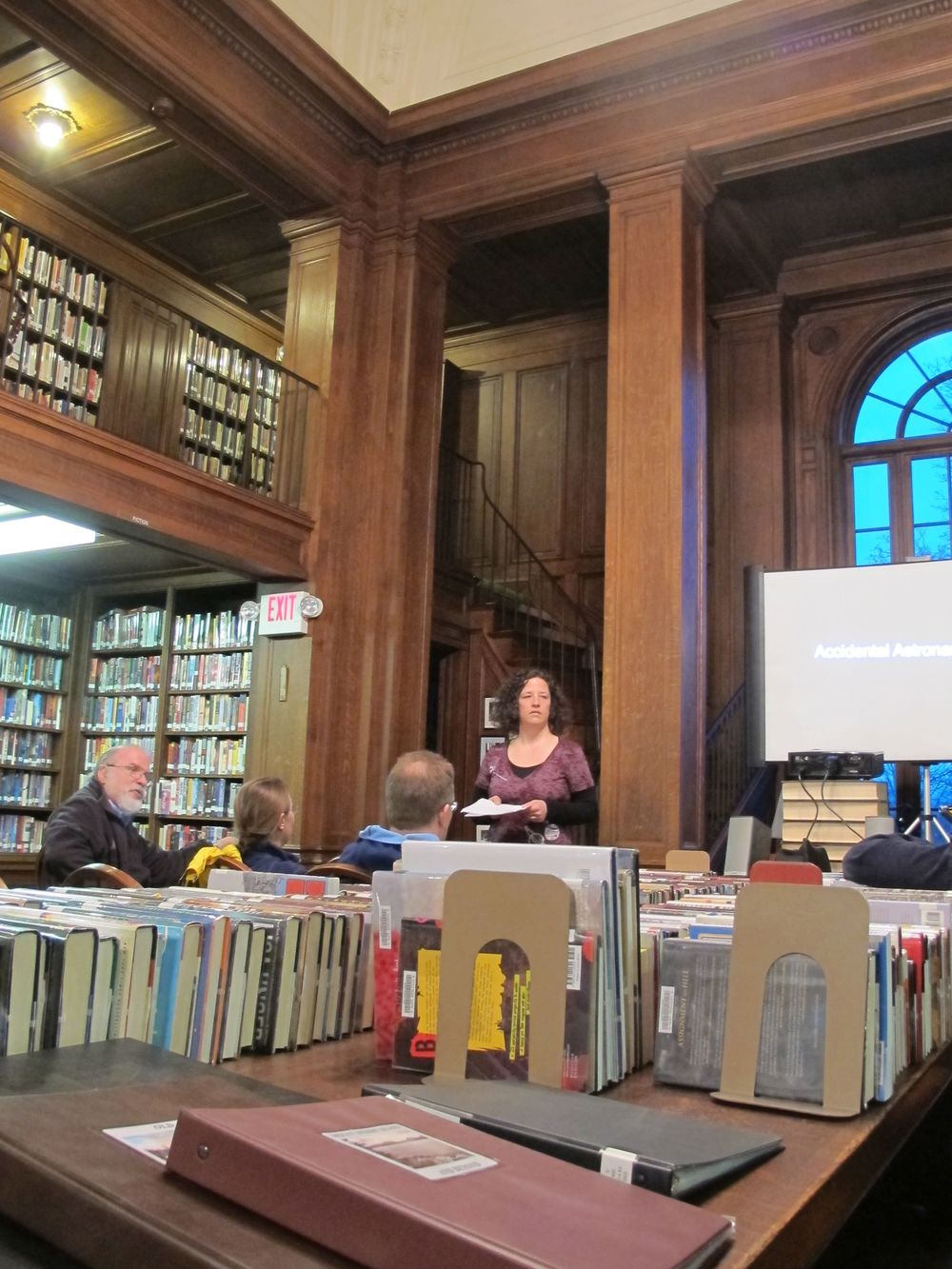We went to the Jessup Library in Bar Harbor to hear Karen talk about how to become an astronaut.