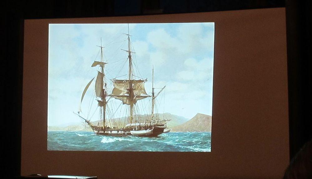 The HMS Beagle.