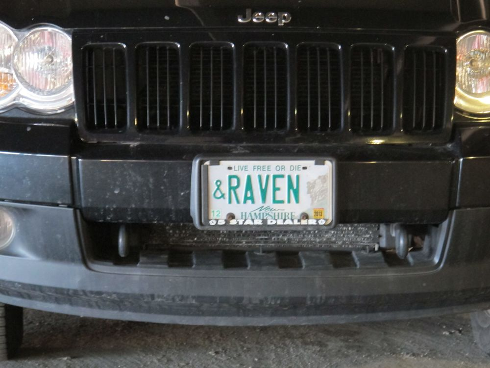 Felicitous license plate sighting on Sunday, a few hours before we had dinner with the great naturalist Bernd Heinrich, author of the books Mind of the Raven and Ravens in Winter. That same day Bernd received a prestigious PEN award for his latest book, LIfe Everlasting.