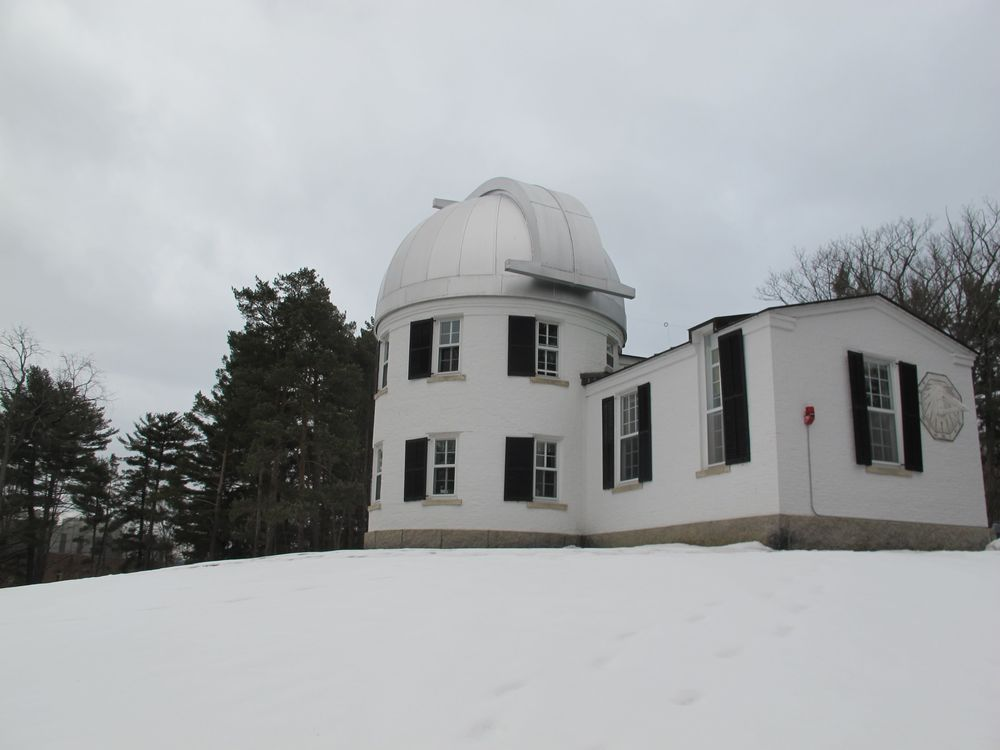 We got to look inside the Shattuck Observatory, which  was built in the mid-1800s.