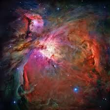 The Orion nebula, where stars are forming at this very moment.