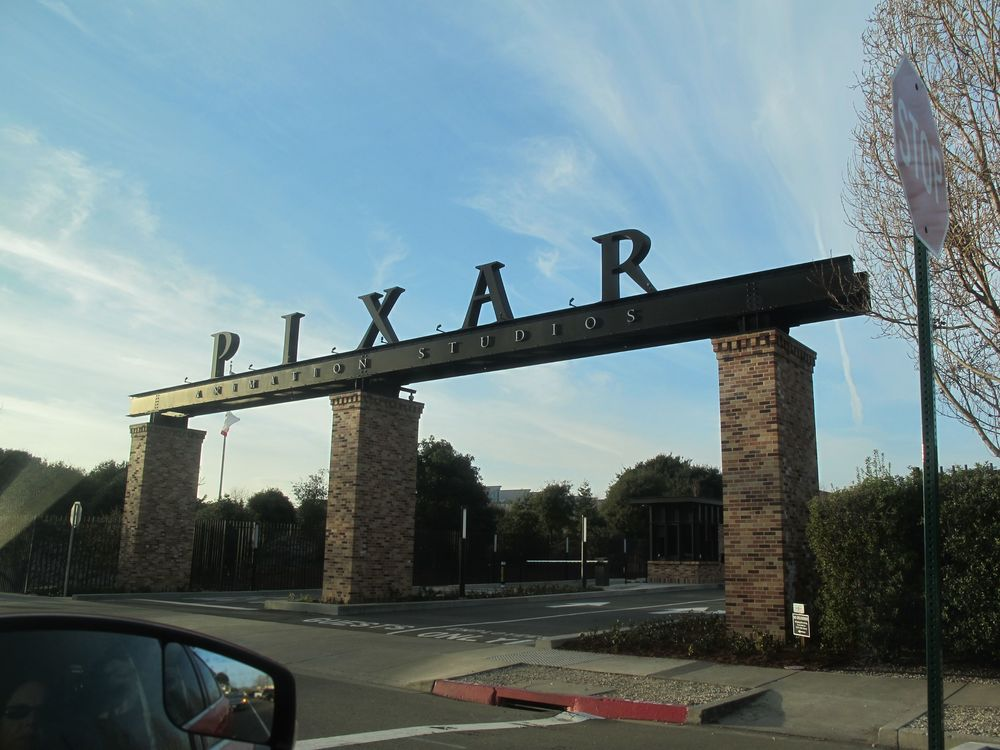 We arrived in late afternoon at Pixar headquarters in Emeryville, on the east side of San Francisco Bay.