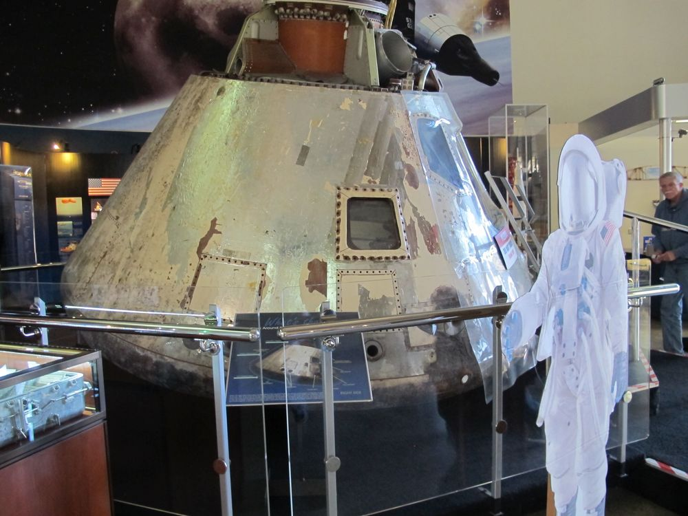 At the San Diego Air & Space Museum, where we met with education director (and author and space-program expert) Francis French, we saw the command module from the Apollo 9 space mission.