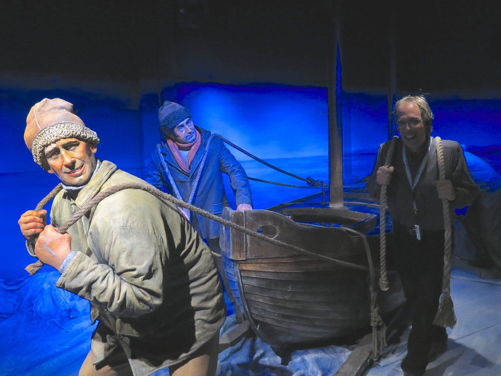 At the museum I joined some of Shackleton's crew in dragging a lifeboat from their famously ice-locked ship, the  Endurance , whose story we would revisit in the days ahead.