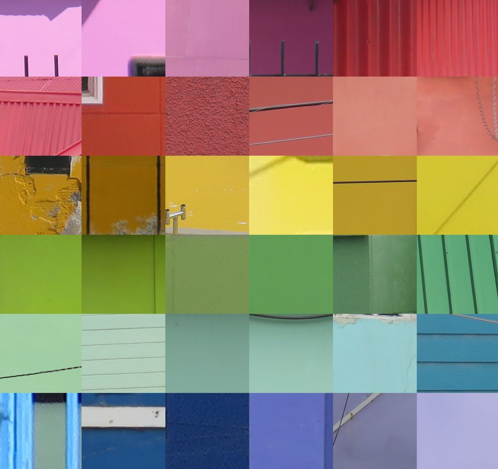 Pamelia created a spectrum collage from her photographs of Ushuaia's colorful buildings.