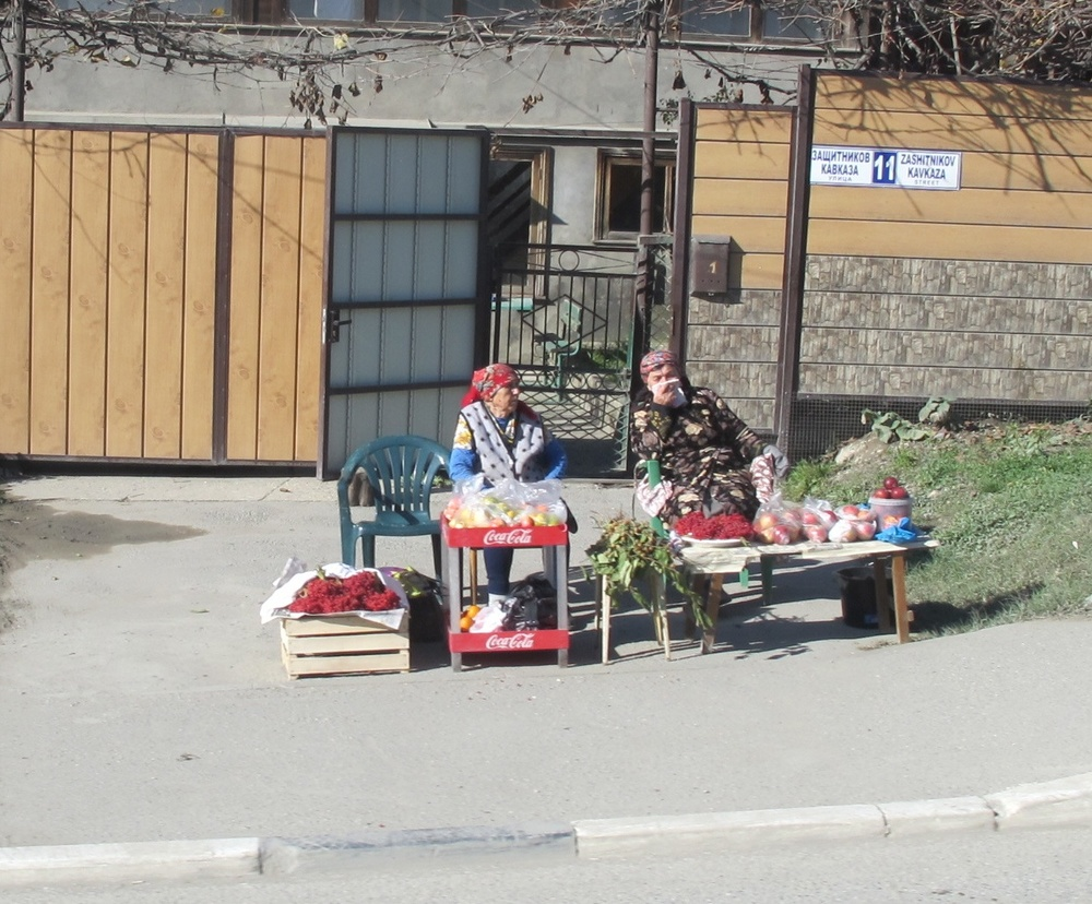 On that same ride, we saw several roadside fruit and vegetable vendors like these. Their crates were especially well stocked with oranges and tomatoes.