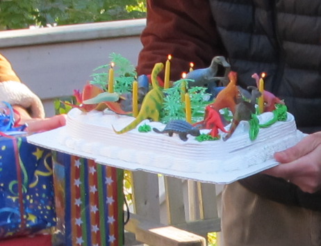 The Notebook hosted a fun birthday party yesterday for 7-year-old Max and 14 of his friends. The dinosaur cake was an especially big hit.