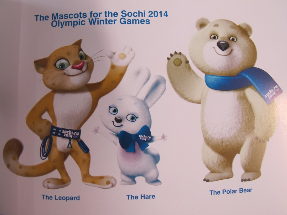 Here's an early look at the Sochi 2014 Olympic mascots. At least they're based on real animals.