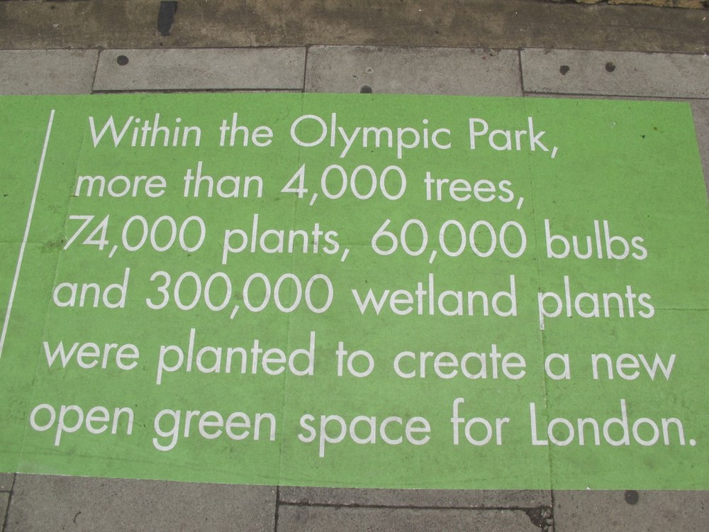 The London organizing committee has worked hard to make these green Games, and that effort has included transforming a former industrial section of East London into the Olympic Park, the most naturally landscaped cluster of venues I've seen at a Games.