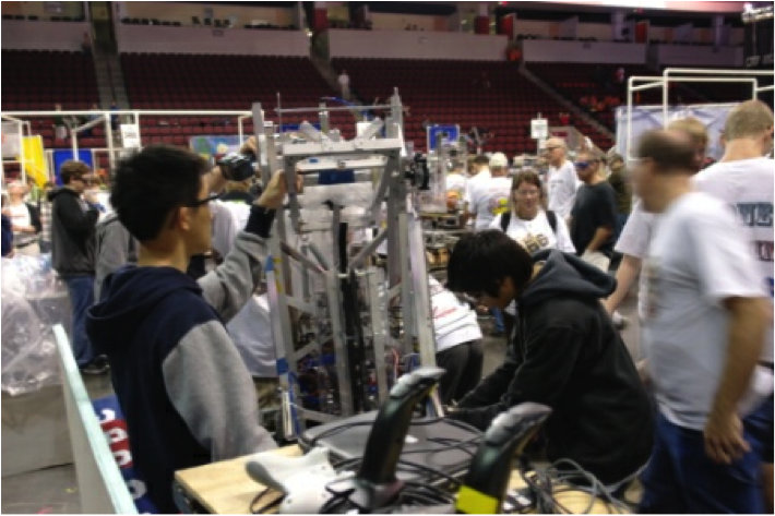A scene from the competition in St. Louis.