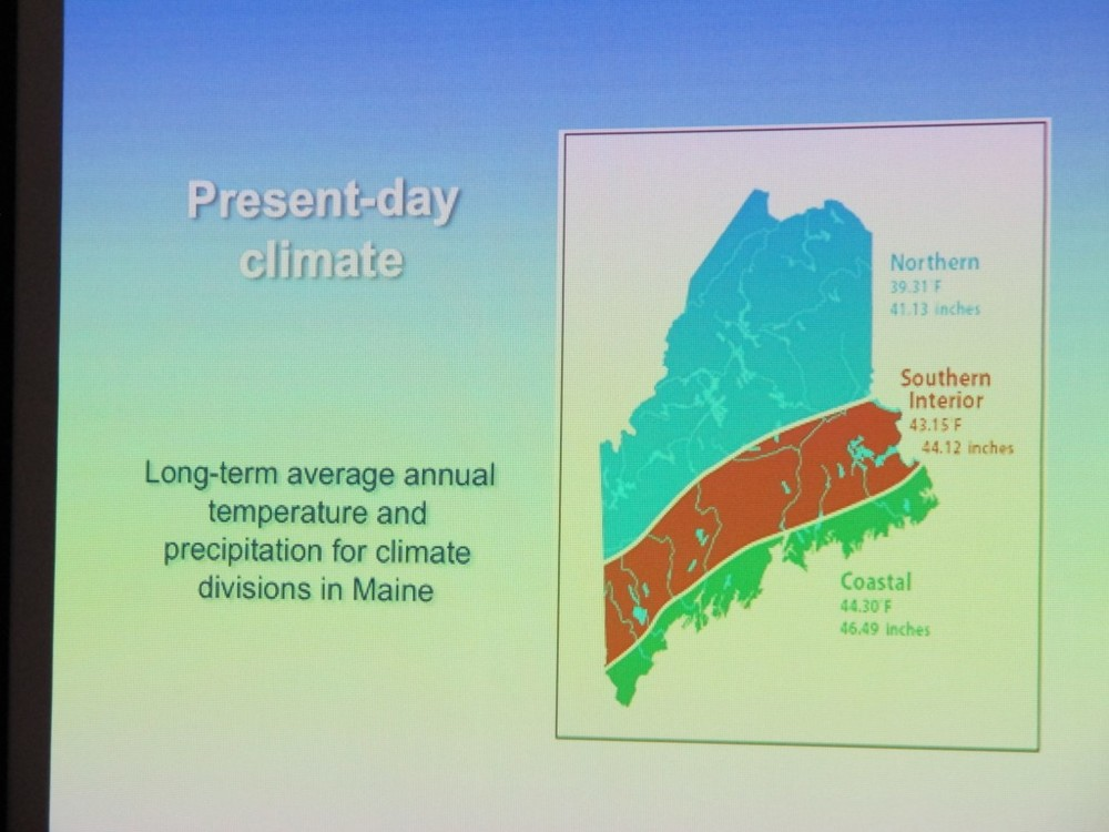 Maine's climate has been warming, though the average year-round temperature along the coast, where we live, is still just 44.3 degrees. The global average is about 58 degrees.