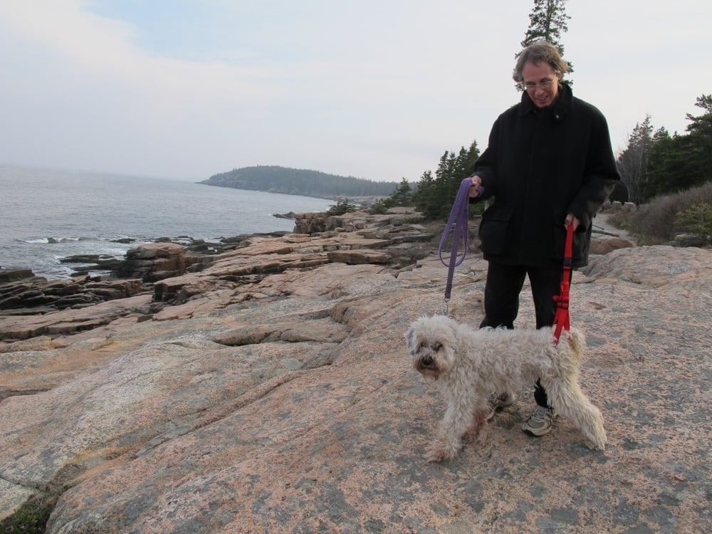 We later took her for a short walk along the granite coastline near Thunder Hole in Acadia National Park.