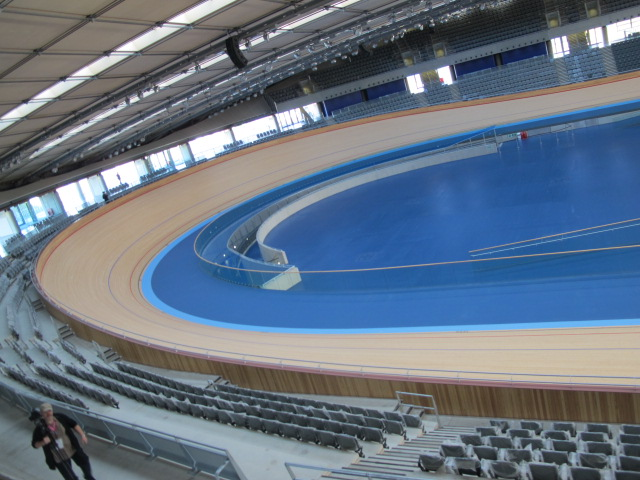 I took this shot inside the London Olympic velodrome on a visit last fall.