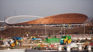 The Olympic velodrome.